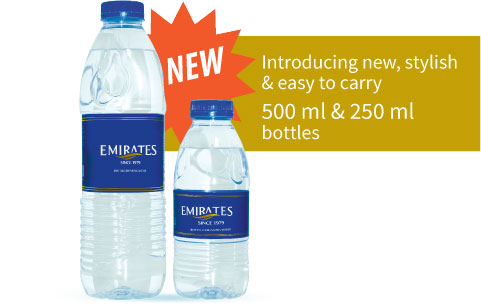 Emirates Water New Bottles 330ml and 500ml